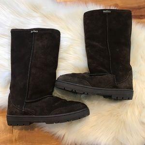 Dark Brown Tall BearPaw Boots - Size 9